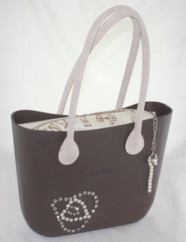 4a-Bag Classic mit  Strassnieten und Perlen