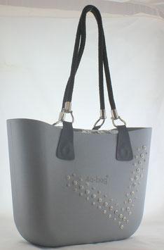 4a-Bag Classic mit  Strassnieten Grau