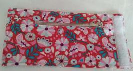4a-Handgelenks-bag mit Reisverschluss Creme und weisen Klettverschluß