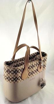 4a-Bag Mini Beige Muster
