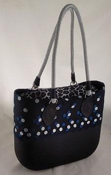 4a-Bag Mini mit Spitze Schwarz