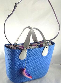 4a-Bag Classic Blau Blumen