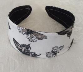 Haarreif Schwarz-Weis Schmetterling
