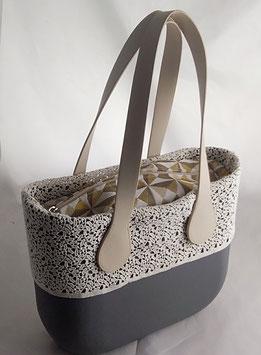 4a-Bag Mini mit Spitze Grau