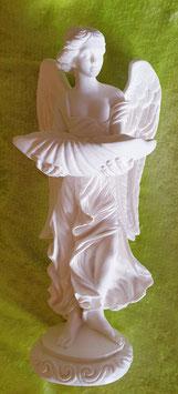 Alabaster-Engel mit Schale