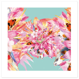 """ASIAN HURLY-BURLY"" - Pattern of Earth, Fine Art Print, 50x50 cm (Außenmaß), Limitierte Sonderedition"