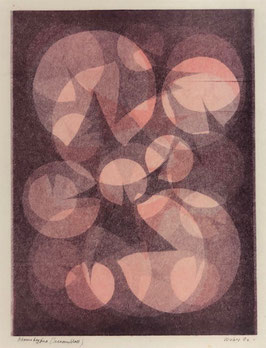 Waber Willy, Monotypie «Seerosenblatt», (bereits verkauft)