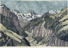Diggelmann Alex Walter, «Lauterbrunnental mit Breithorn»