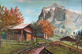 Herzog Emil, «Grindelwald mit Wetterhorn», (bereits verkauft)