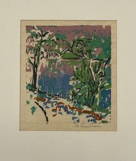 Frey-Surbek Marguerite, «Landschaft mit See»