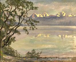 Bandi Hans, «Thunersee mit Dreigestirn», (bereits verkauft)