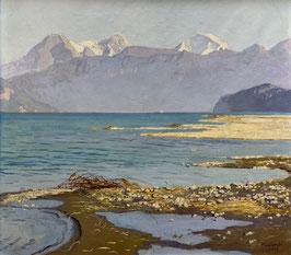 Colombi Plinio, «Kandergrien mit Eiger, Mönch, Jungfrau», (bereits verkauft)