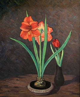 Aellig A., «Blumen Amaryllis und Tulpe», (bereits verkauft)