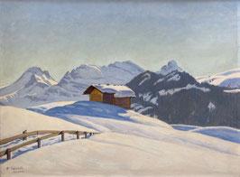 Colombi Plinio, «Winterlandschaft», (bereits verkauft)