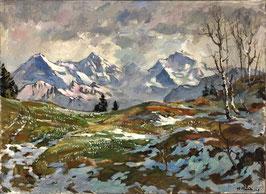 Bandi Hans, «Eiger, Mönch, Jungfrau von Beatenberg», (bereits verkauft)