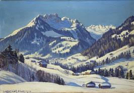 Bütikofer Fritz, «Wintermorgen bei Gstaad, Staldenfluh»