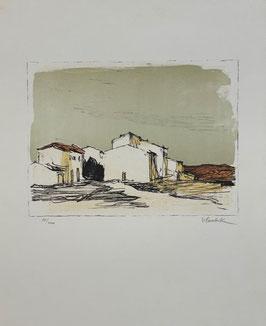 Surbek Victor, «Südliche Landschaft mit Dorf»
