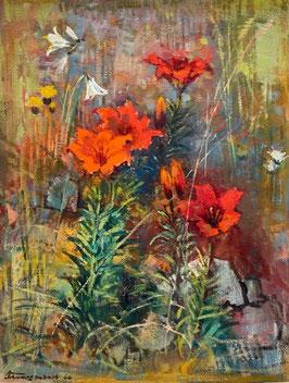 Schwarzenbach Armin, «Feuerlilie (Avers)», (bereits verkauft)