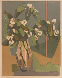 Waber Willy, Litho «Quittenblüten», (bereits verkauft)