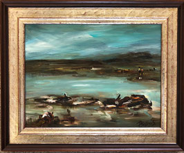 Rohrer Ruth, Thun, «Landschaft am See», (bereits verkauft)