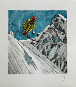 Diggelmann Alex Walter, «Lauberhornrennen mit Mausefalle», (bereits verkauft)