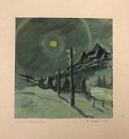 Bütikofer Fritz, «Wintertal Mondnacht»