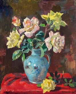 Bandi Hans, «Stilleben mit Rosen»