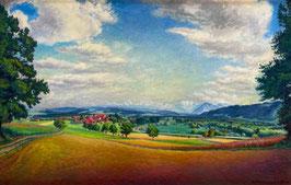 Wohlgemuth Christian, «Blick auf die Berner Alpen», (bereits verkauft)