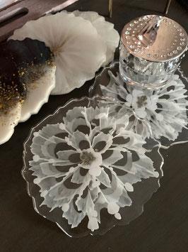 Resin Flower Untersetzer