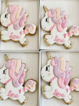 Einhörner-Kekse mit Namen