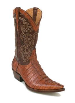 Krokodil Stiefel Texas Caiman cognac