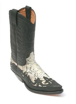 Python Boots 3241 c. spr. negro / Phython barr. nat.
