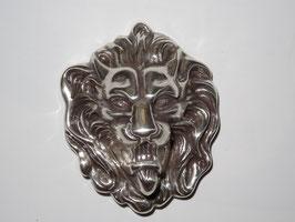 Gürtelschnalle Lionhead Silver