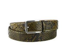 Cinturon Python Verde Kaki
