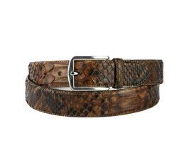 Cinturon Python Cognac