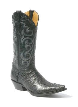 Sendra Boots Krokodil Stiefel Texas Caiman negro