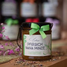 Pfirsich Nana Minze im Henkelglas