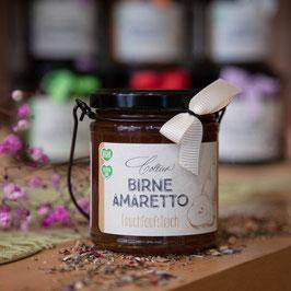 Birne Amaretto im Henkelglas