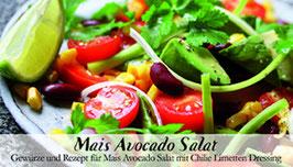 Mais Avocado Salat - Soulfood Gewürzkasten