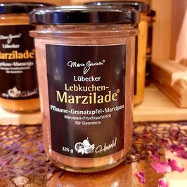 Marzilade Pflaume mit Granatapfel