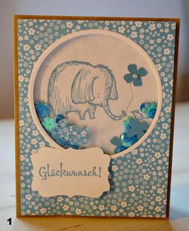 schüttelkarte elefant