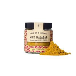 Mild Malabar Bio Klassisches gelbes Curry, 50g im Glas