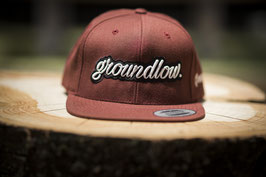 """Groundlow"" Snapback ""Bordeaux"""