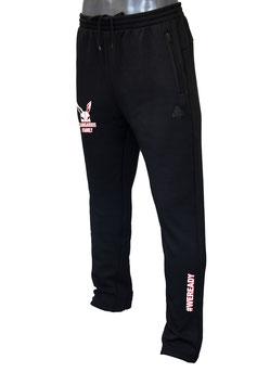 PEAK Sweatpants schwarz mit Kangaroos-Family-Logo und Schriftzug