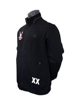 PEAK Trainingsjacke schwarz mit Kangaroos-Family-Logo und Schriftzug