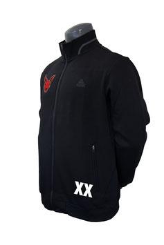 PEAK Trainingsjacke schwarz mit Kangaroos-Logo und Initialen