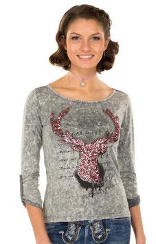 Shirt - Tracht - Marjo Trachten T-Shirt K91 HANNA asche