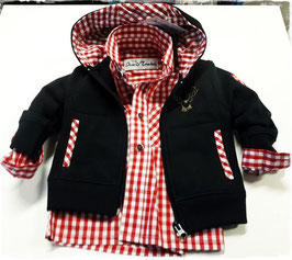 Sweatjacke mit Hirschmotiv in marine - Kindertracht