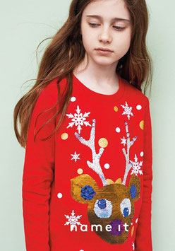Wendepailletten Sweater Rudolf - NAME IT KIDS MÄDCHEN