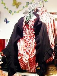 Bluse - Tracht Damenbluse Tracht mit Rüschen - rot weiß kariert